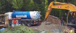 Tanker on site